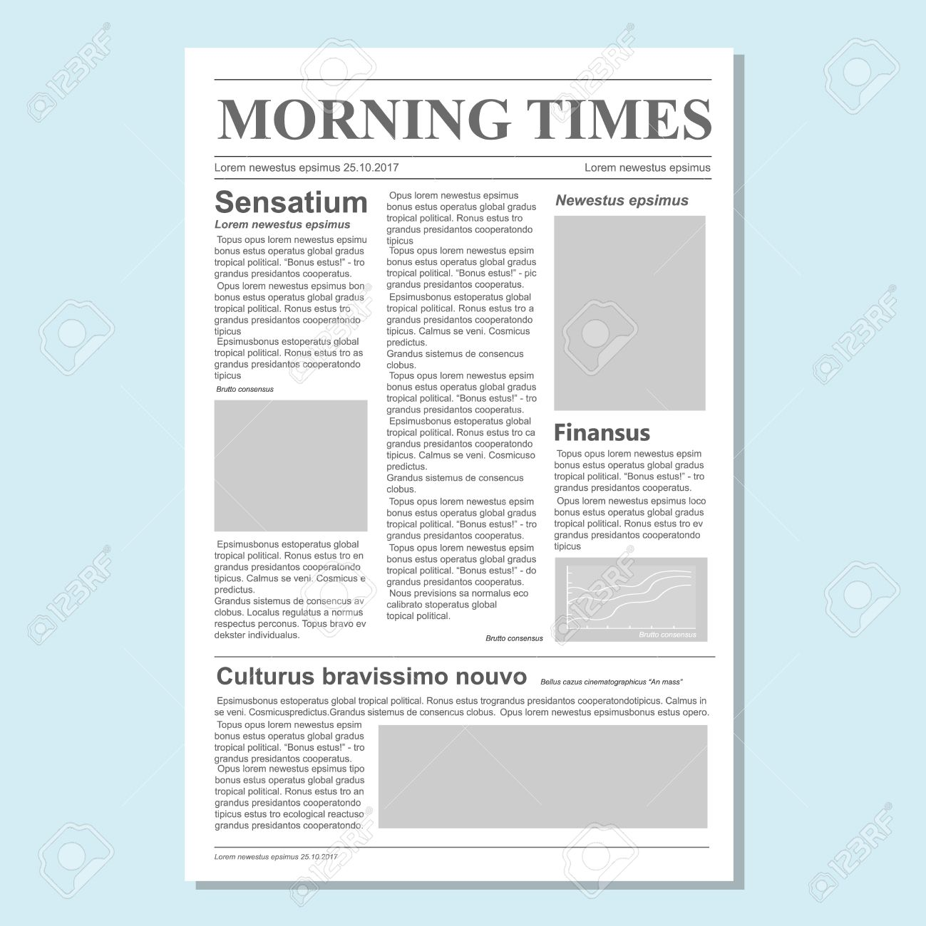 graphical design newspaper journal template paper tabloid on