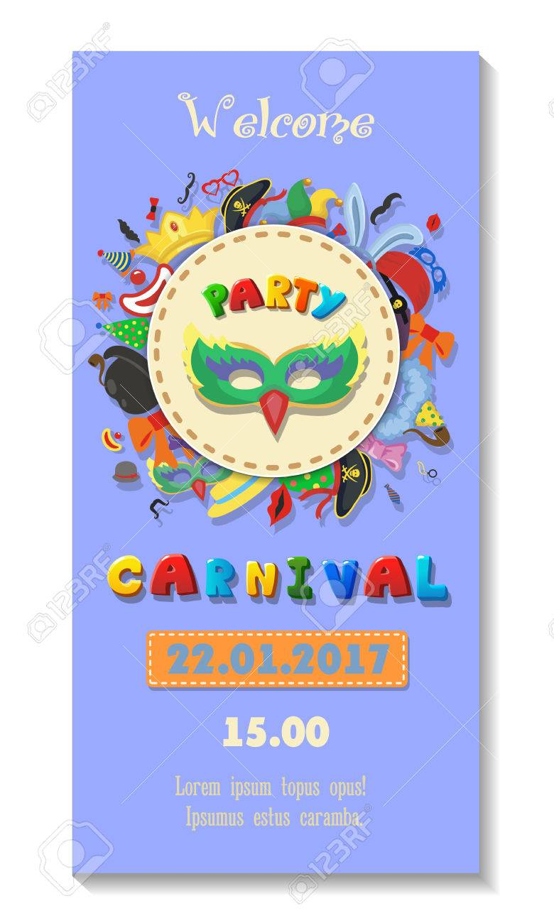 Carnival Party Poster Design Flyer Or Invitation Template Funfair