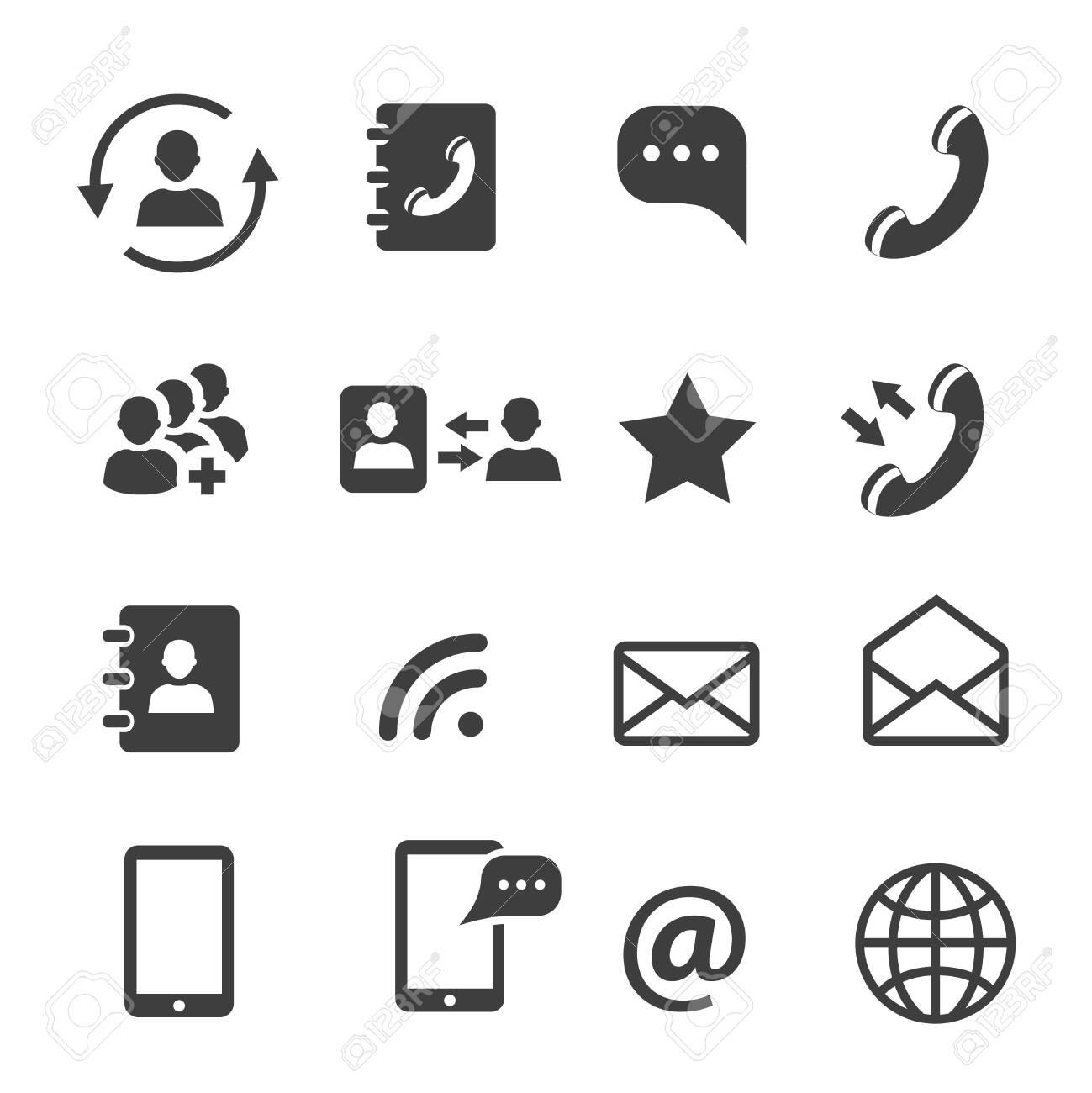 Media and web communication icons set - 131718385