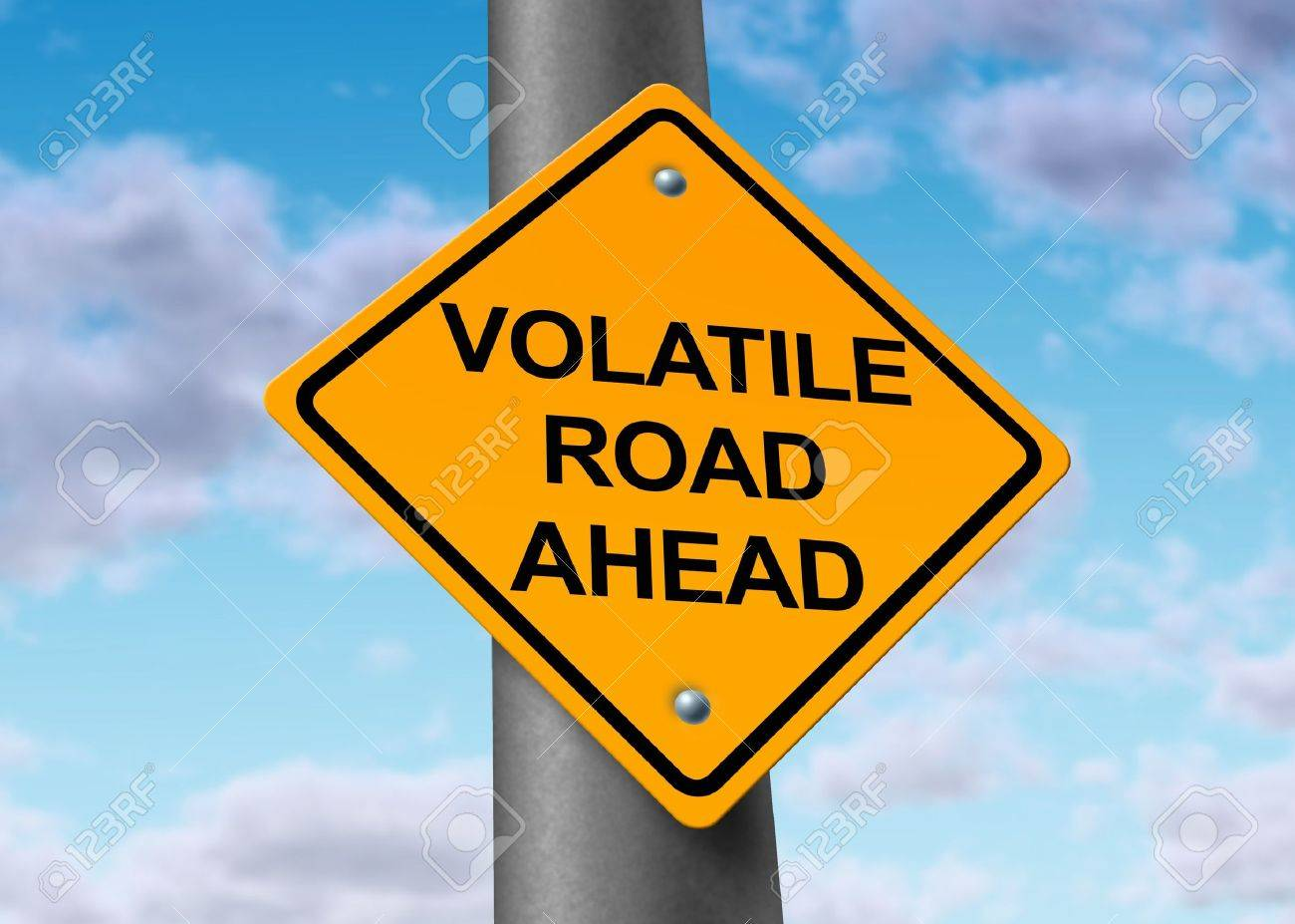 Volatility in the stock market symbol represented by a yellow road volatility in the stock market symbol represented by a yellow road warning sign showing the hazards of a volatile trading sesion at the dow jones or wall buycottarizona Choice Image