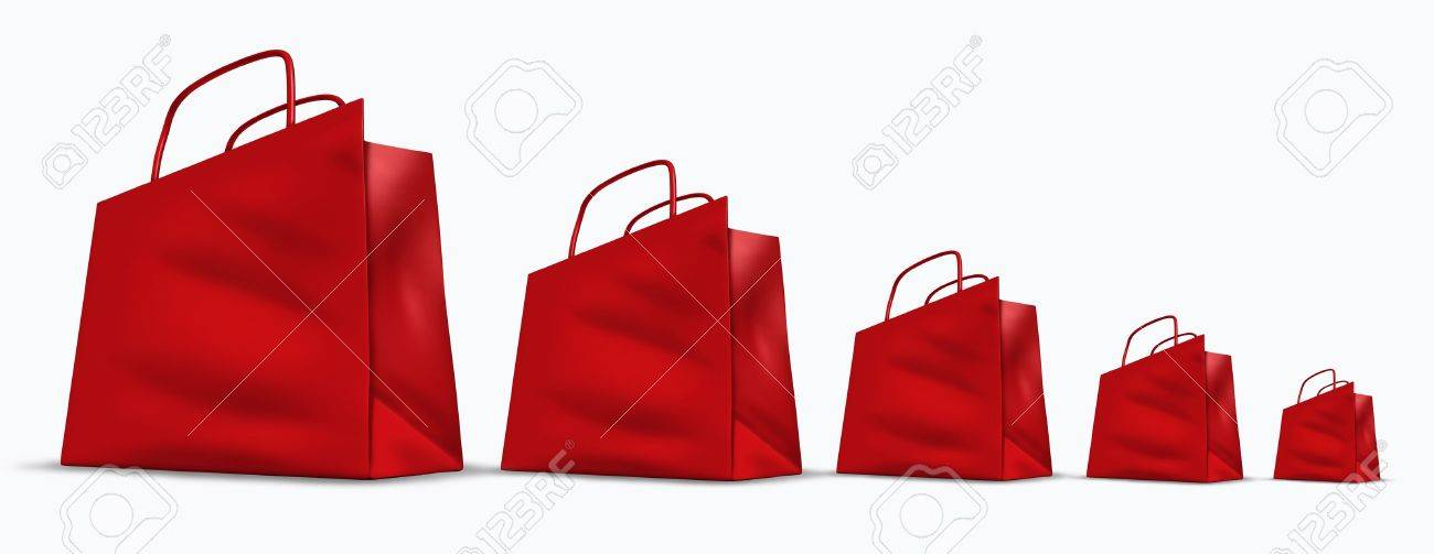 Red Shopping Bags in a