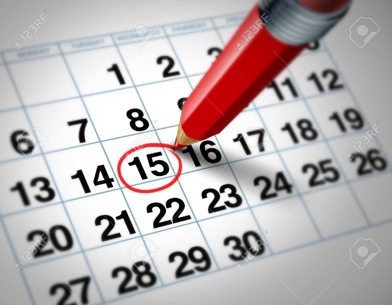 Calendrier Definition.Definition D Une Date Importante Sur Un Calendrier Avec Un Crayon Rouge Marquant Un Jour Du Mois Qui Represente Le Temps D Organisation Et De