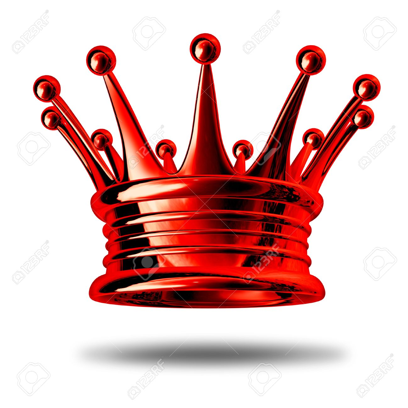 Red Crown Representing Royalty And Wealth As A King Maker Award