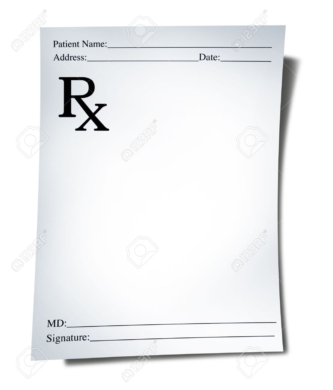 Blank Prescription Template - Corpedo.com