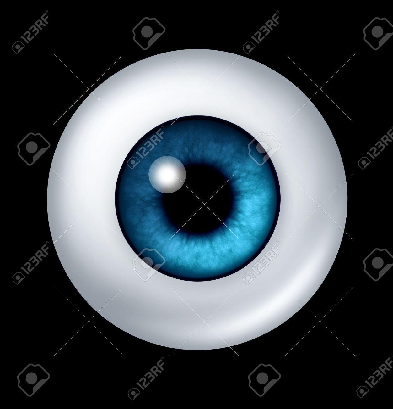 Einzelne Blaue Kugel Menschliche Auge Mit Iris Und Netzhaut, Die Die ...