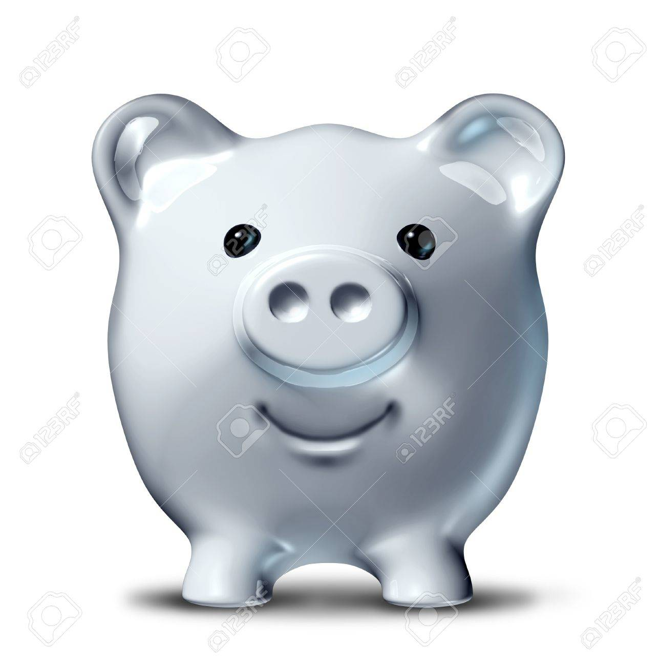 Smiling and happy piggy bank in a front view representing the concept of succesful long term savings and financial planning of investments. Stock Photo - 10892077