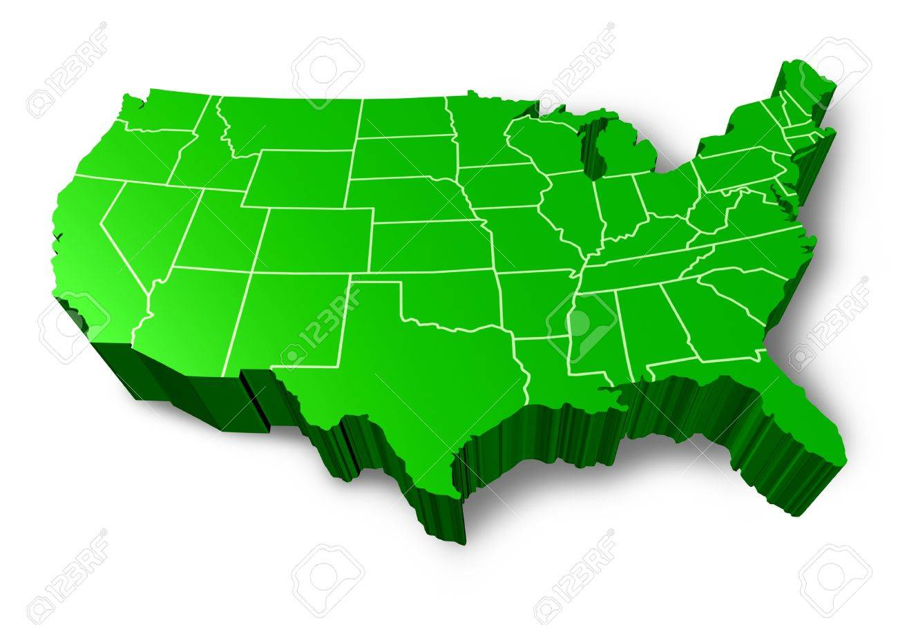 United States Map D Cliparts Stock Vector And Royalty Free - 3d map usa states