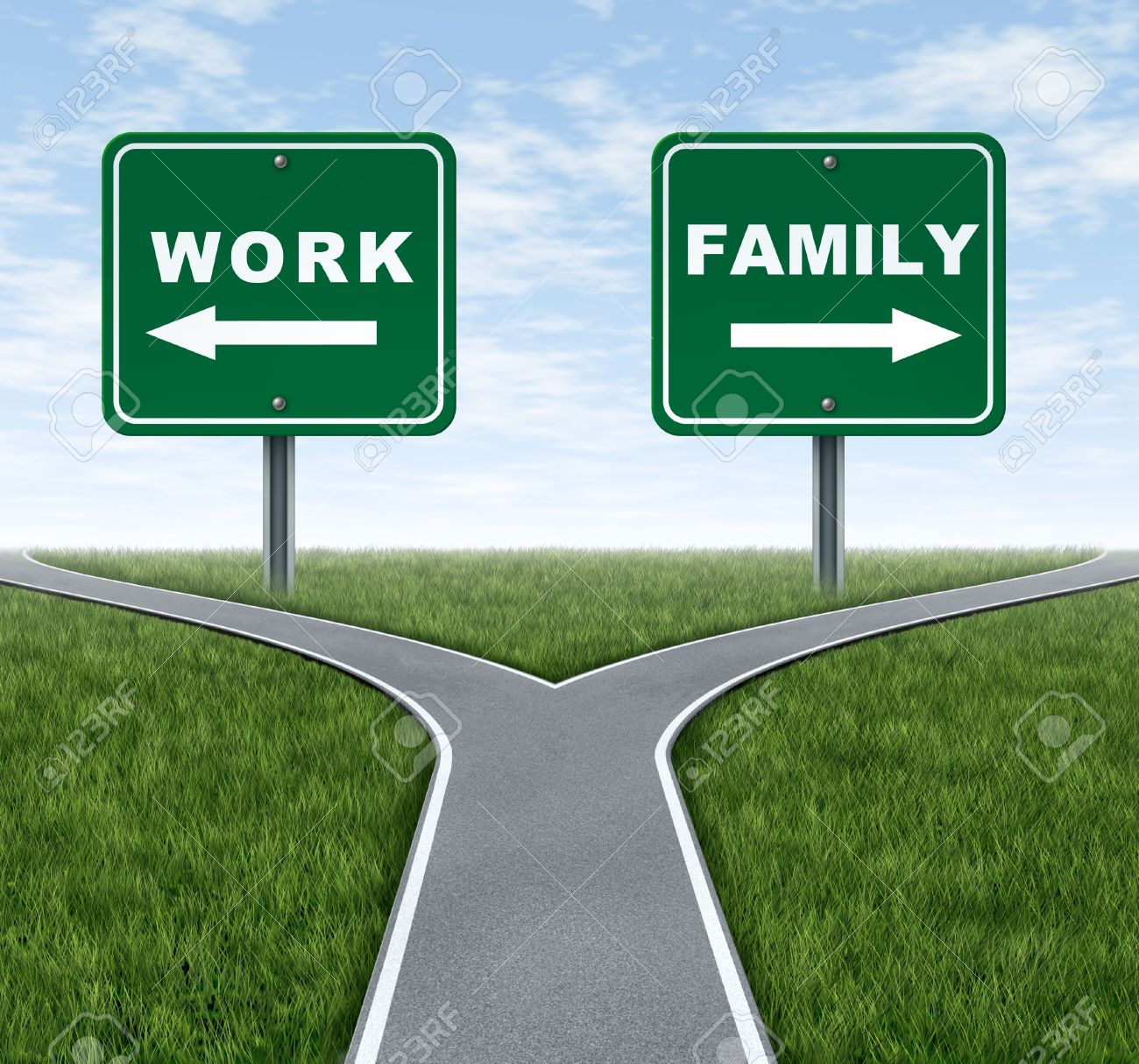 Work or family symbol representing the important life choice work or family symbol representing the important life choice of raising a family and spending time buycottarizona