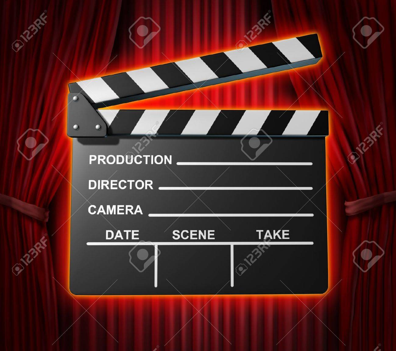 Black Clapperboard Movies Symbol Represented By A Film Slate Stock Photo Picture And Royalty Free Image 10909940