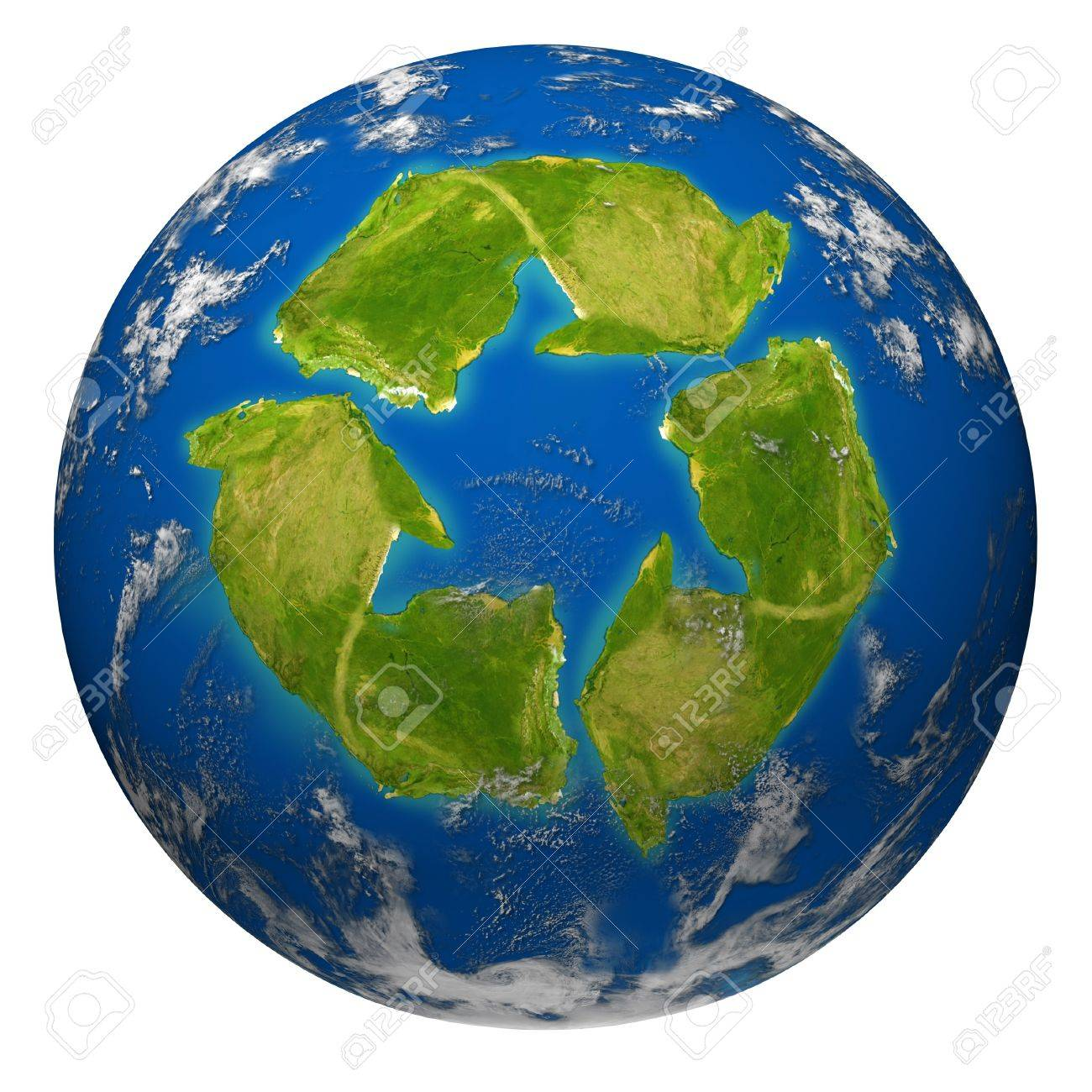 Green Earth Environment Symbol Represented By The Planet With