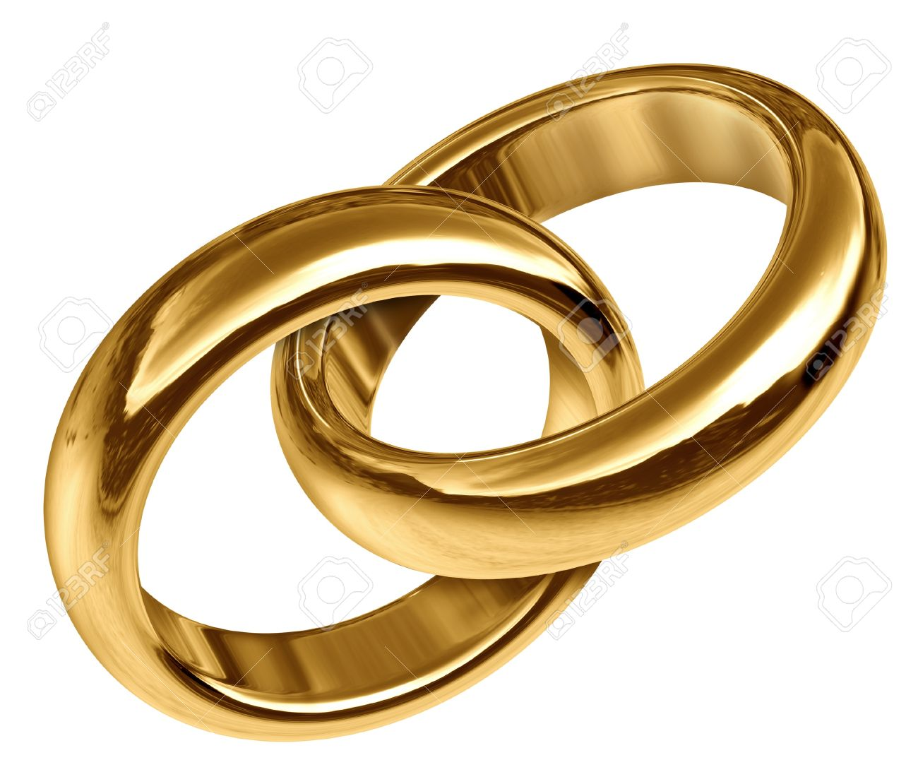 b18ef32a3407 Foto de archivo - Los anillos de boda unidos entre sí que representa el  concepto de amor eterno y el inicio de una nueva vida y de relación.