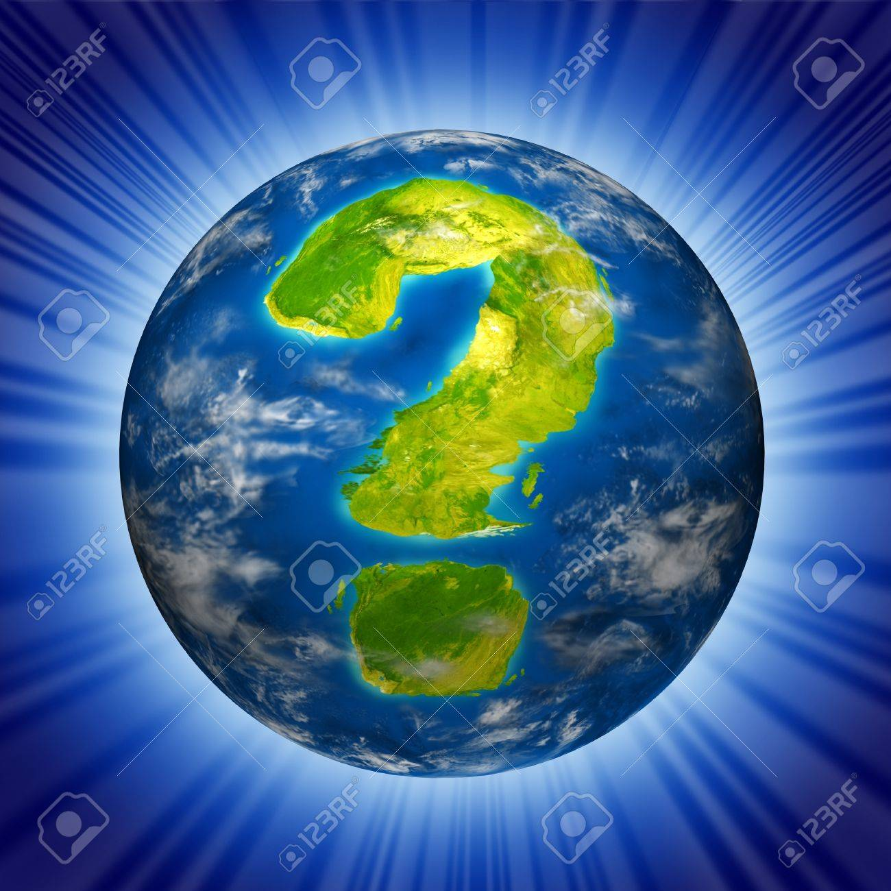 Risk and global uncertainty representing the concept of business and economic health of the planet earth as well as geo political and environmental situation. Stock Photo - 10909960