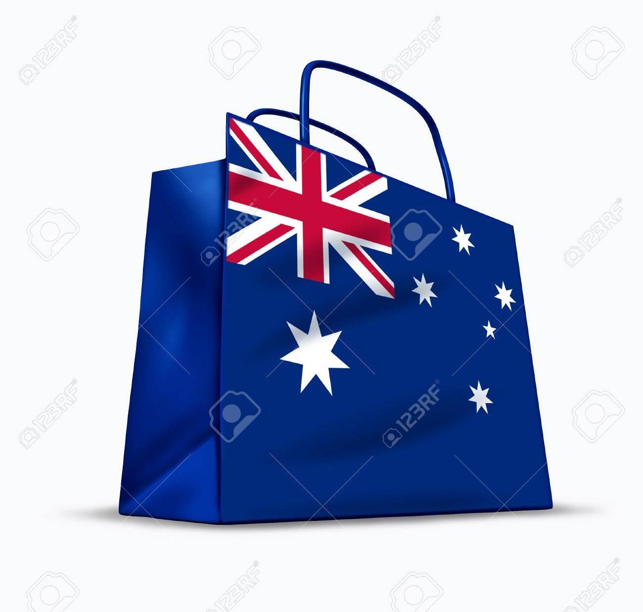 Símbolo Representado Una Bandera Bolsa La Por Con De Australia Australiano Comercial K1FJcl