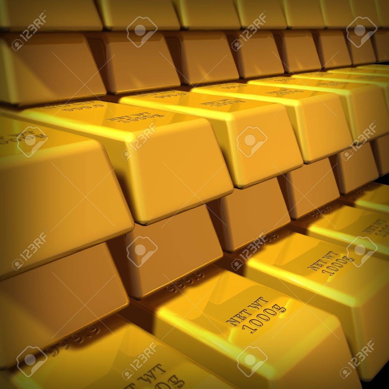 Gold bullion in a group representing commodities trading for gold bullion in a group representing commodities trading for wealth and the banking system symbol buycottarizona Image collections