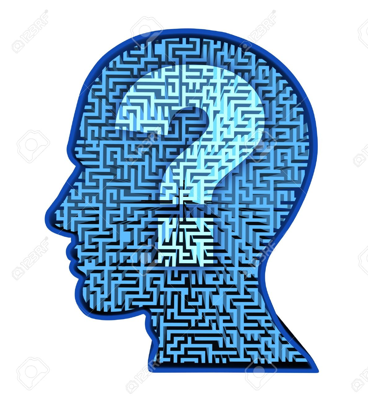 Human Brain Research And Intelligence Puzzle With A Blue Glowing