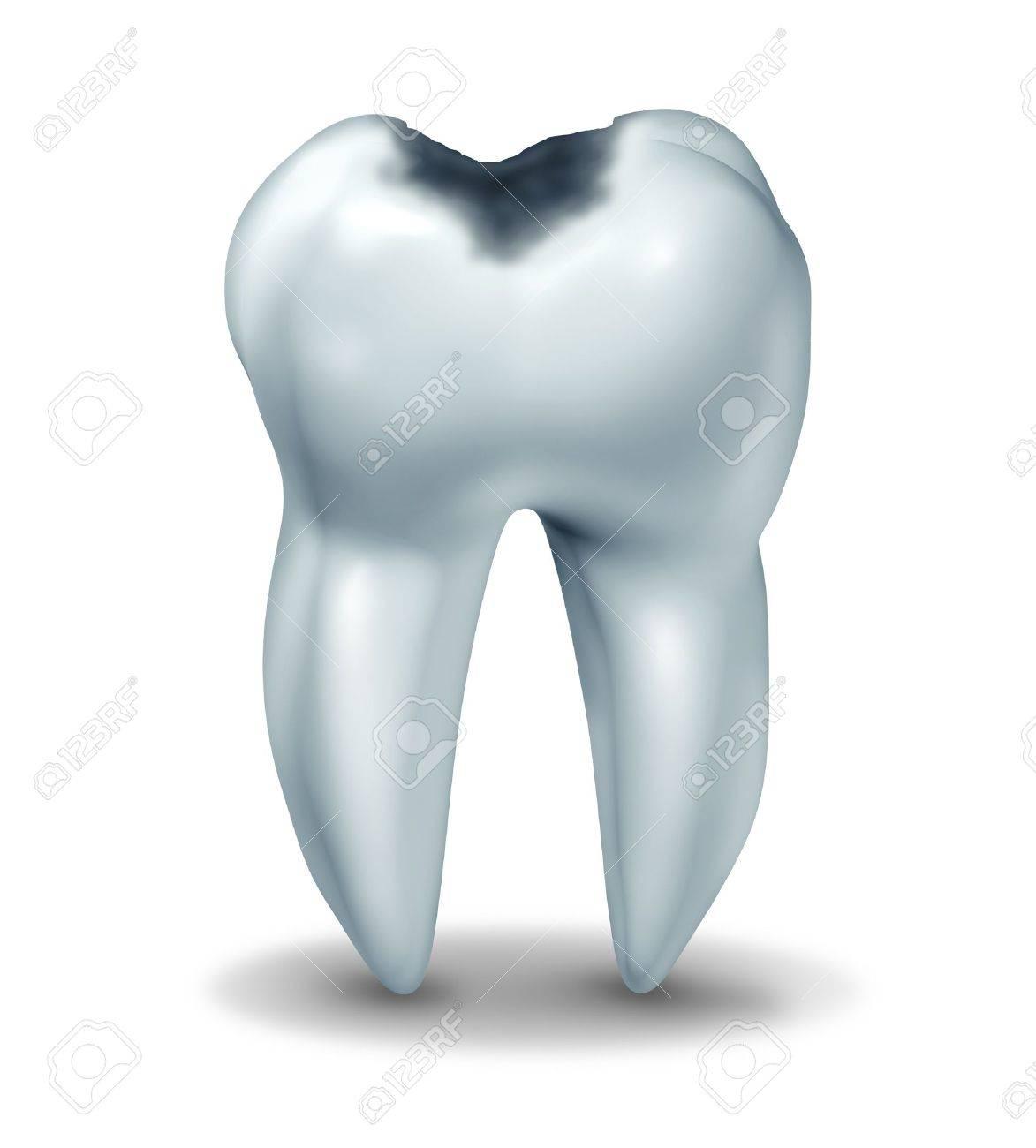 Zahnkavität Symbol, Das Den Medizinischen Anatomie Der Zähne Mit ...