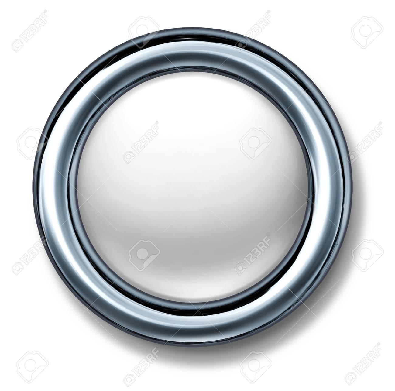 button white isolated metal frame Stock Photo - 11155867