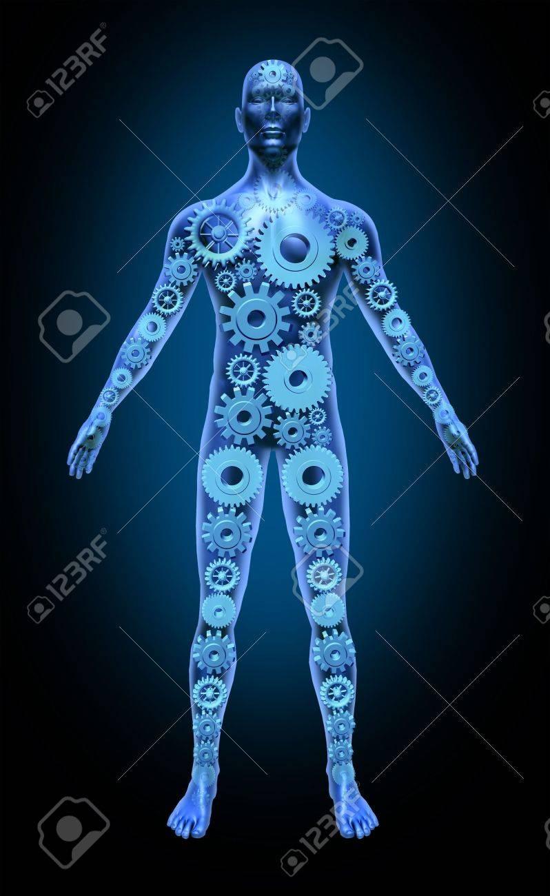 Der Menschliche Körper Funktionieren Gesundheit Symbol Medizinische ...