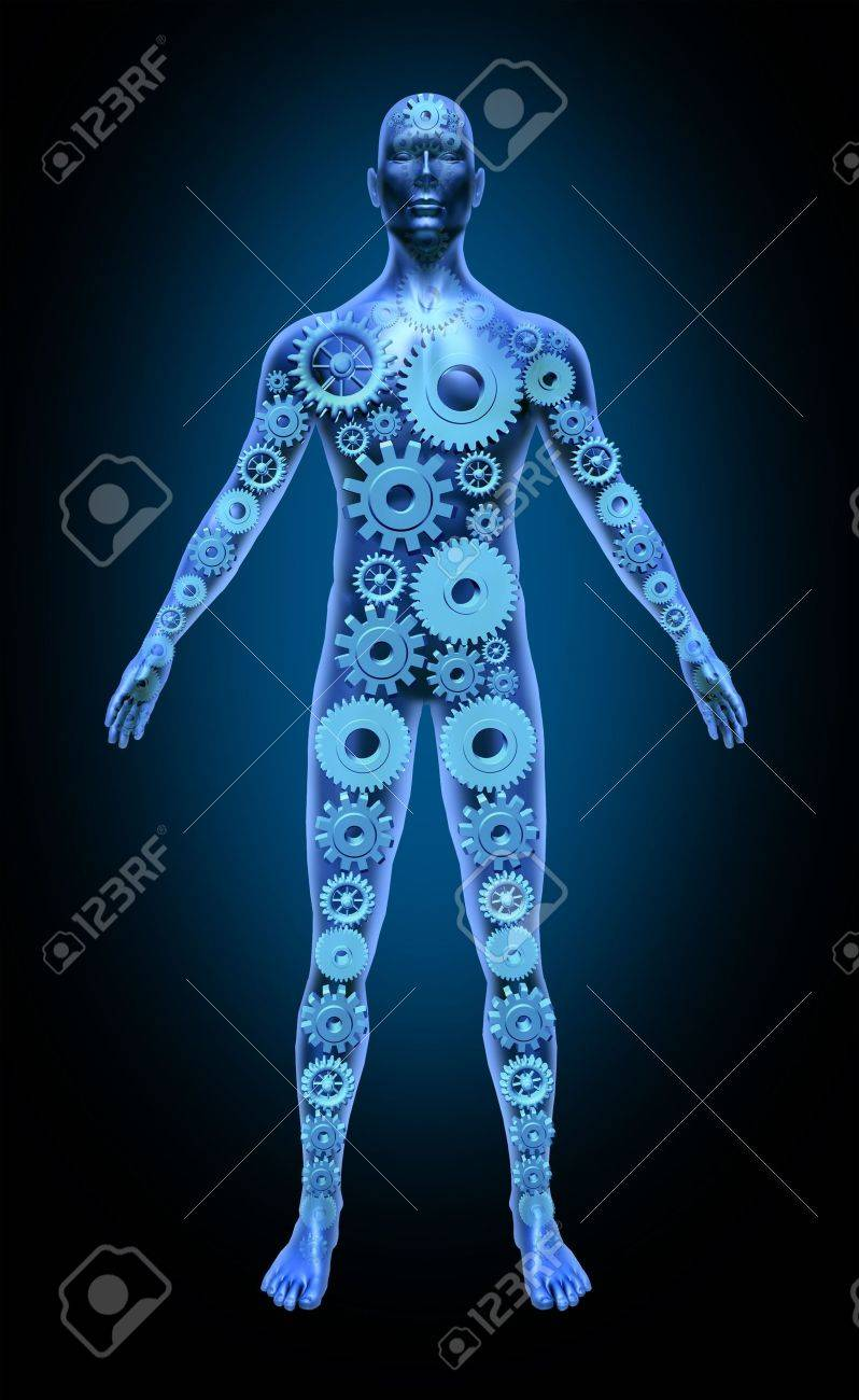 Human body function health symbol medical icon gears cogs anatomy healthcare Stock Photo - 11570622