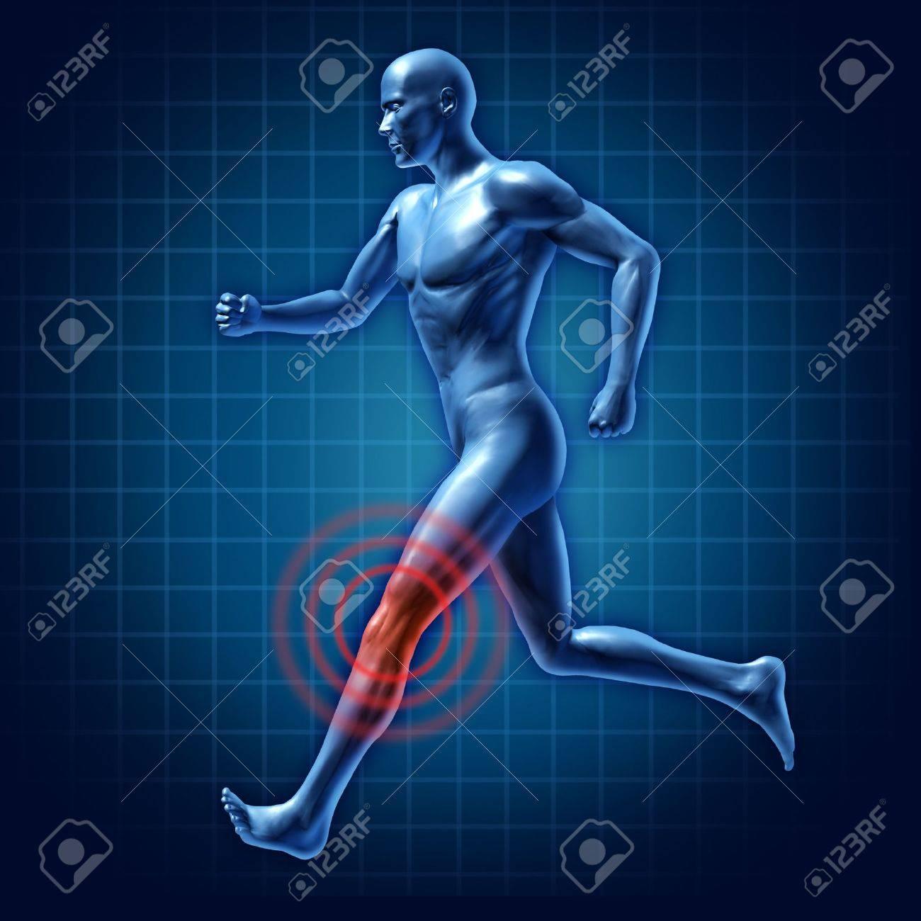 Menschlichen Knies Therapie Läufer Gelenkschmerzen Medizinische ...