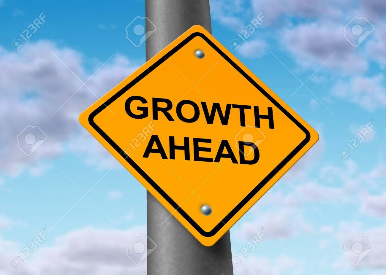 Growth recovery profits improvement profits Street Sign Stock Photo - 11410884