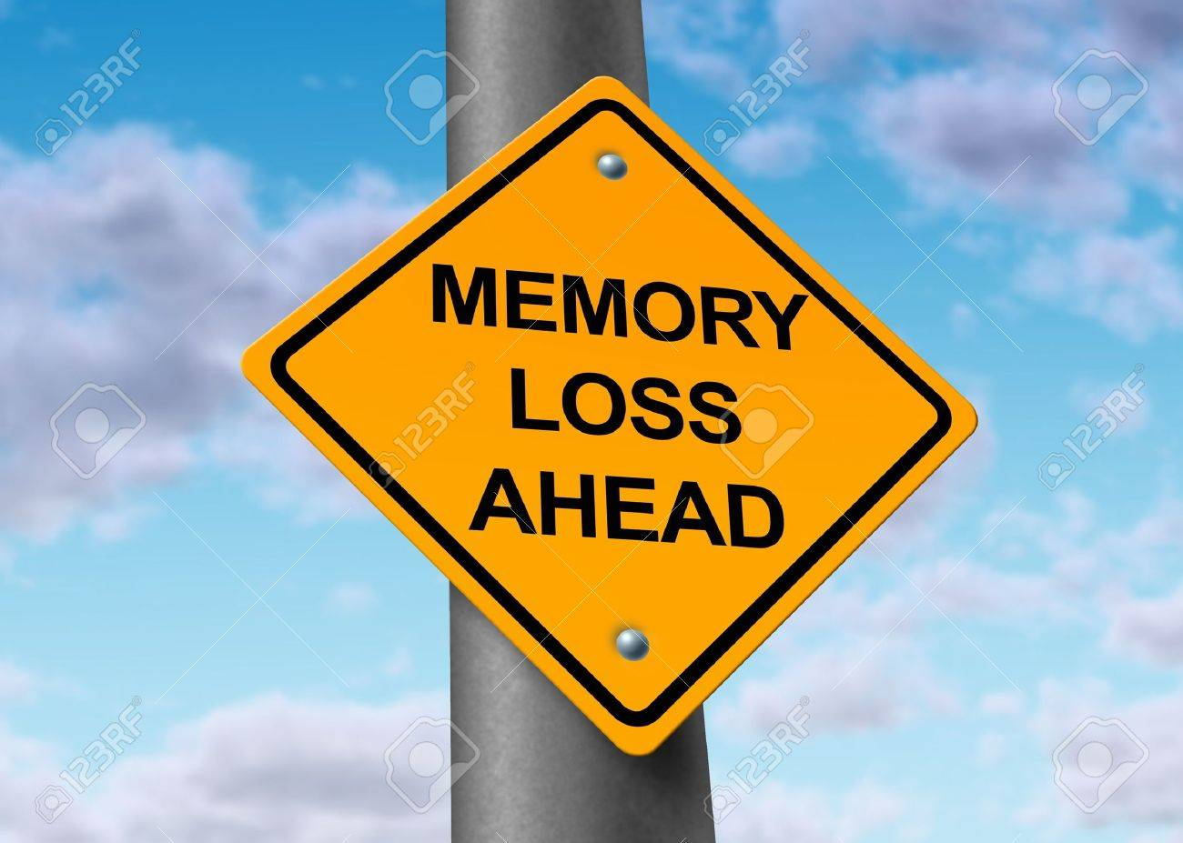 memory loss alzheimer's ahead road street sign Stock Photo - 11410875