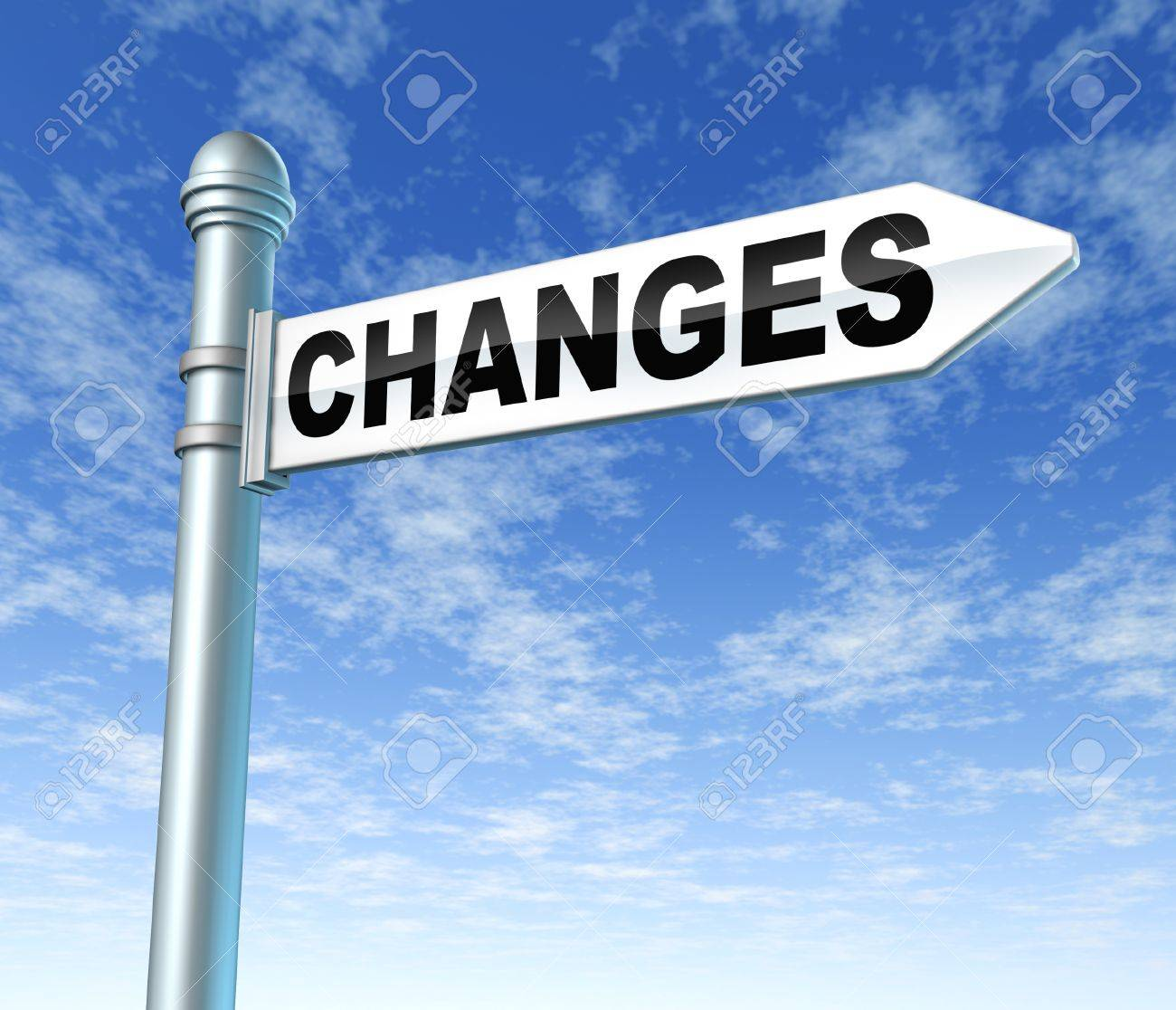 changes signpost adapting evolving Stock Photo - 11409649