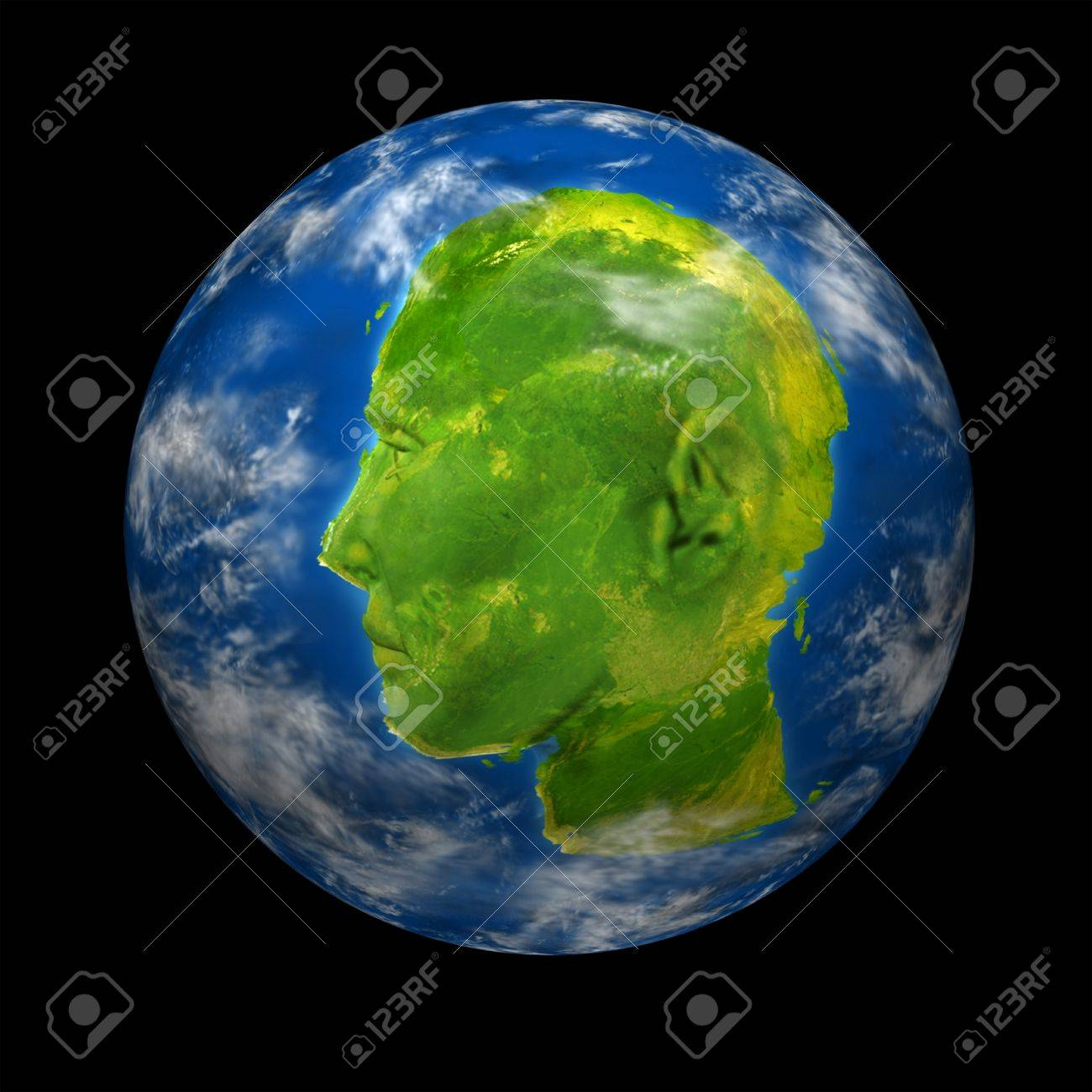 Interactive global communications leader concept with a planet interactive global communications leader concept with a planet earth with a continent map shaped as a gumiabroncs Image collections