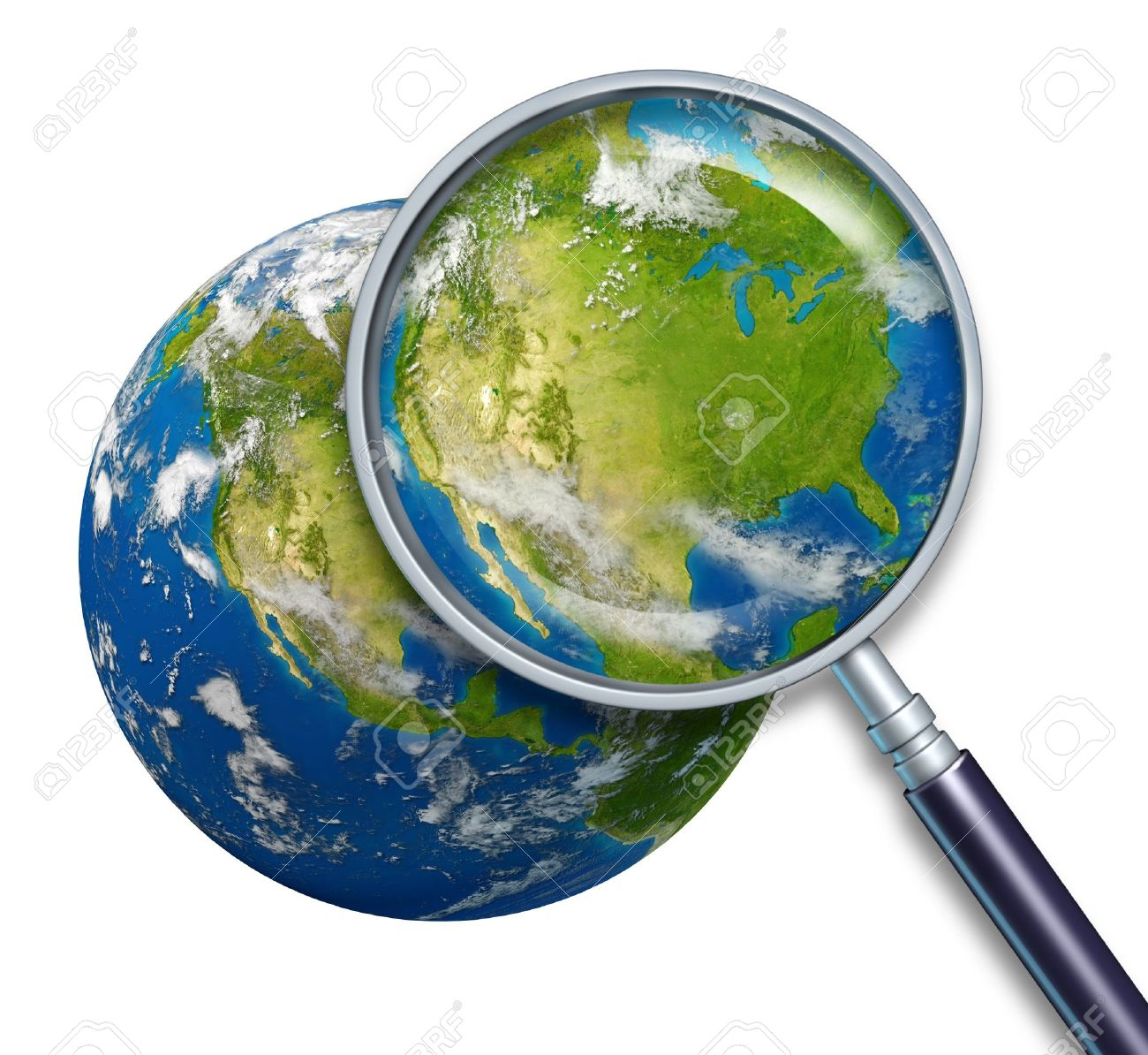 United States Of America Planet Earth Focusing On The Country - United states of america map los angeles