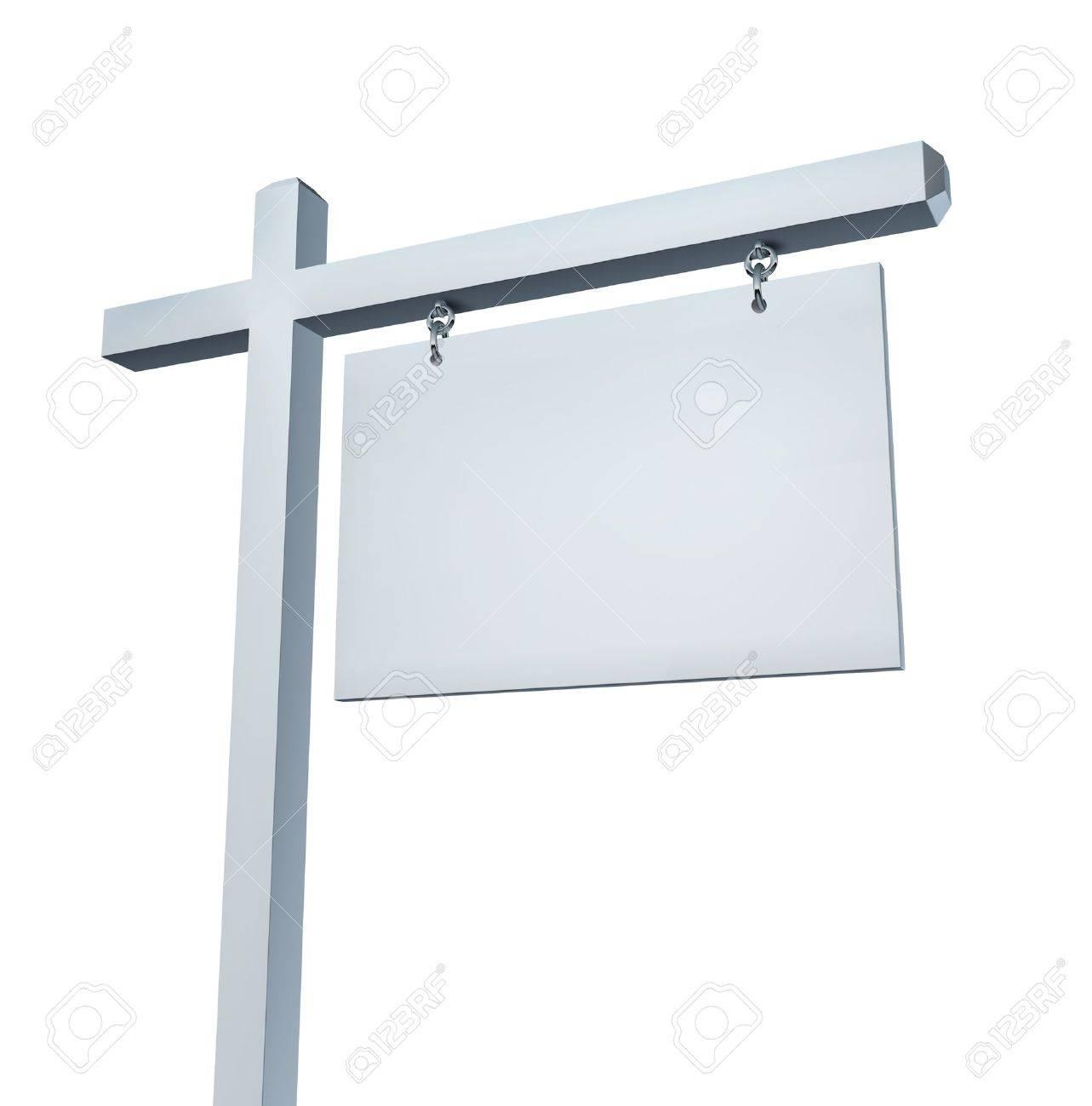 Weiss Immobilien blank weiß immobilien zeichen als kommunikations billboard