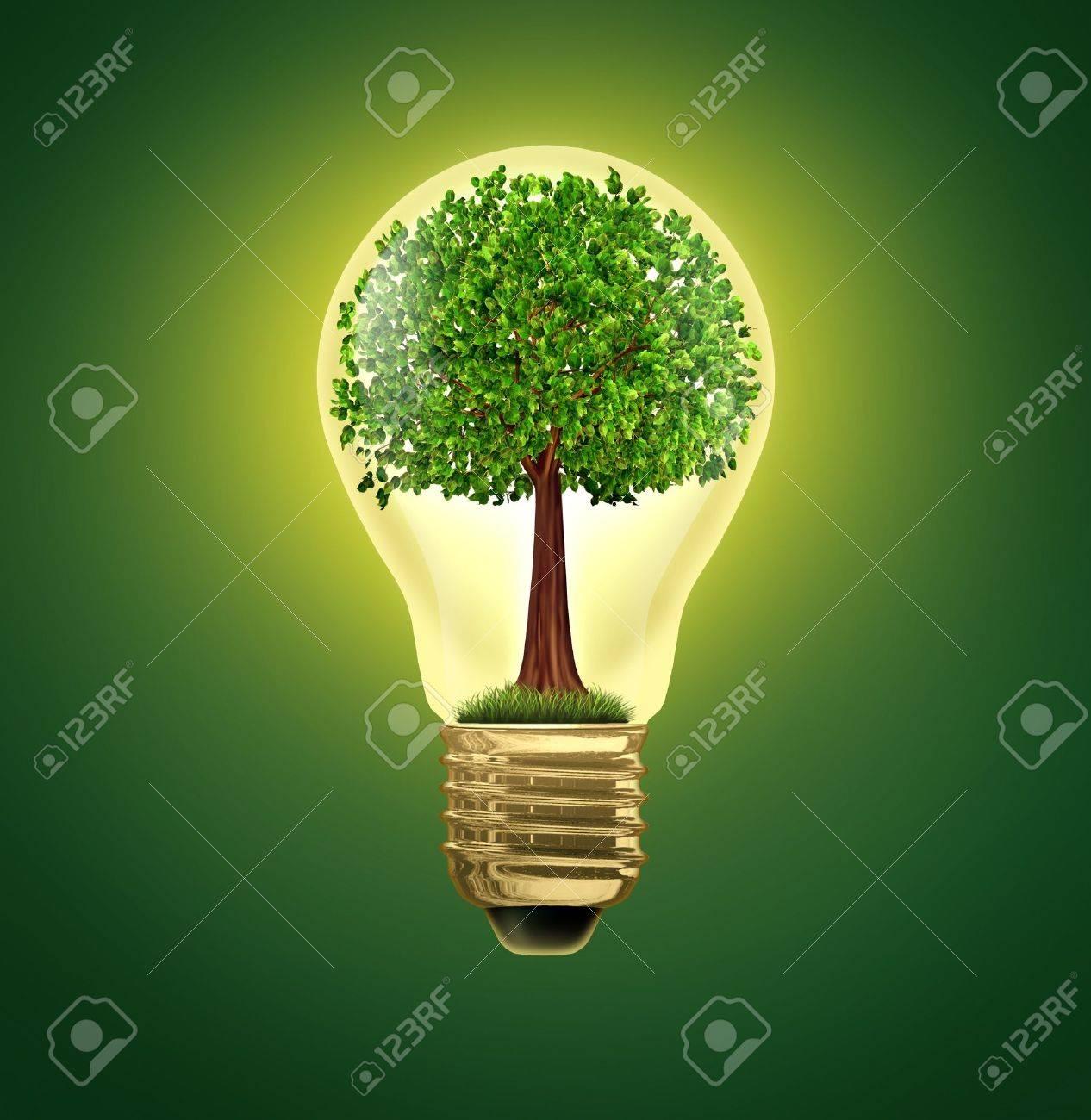 Umwelt-Ideen Und Umwelt Grüne Energie ökologische Symbol Der ...