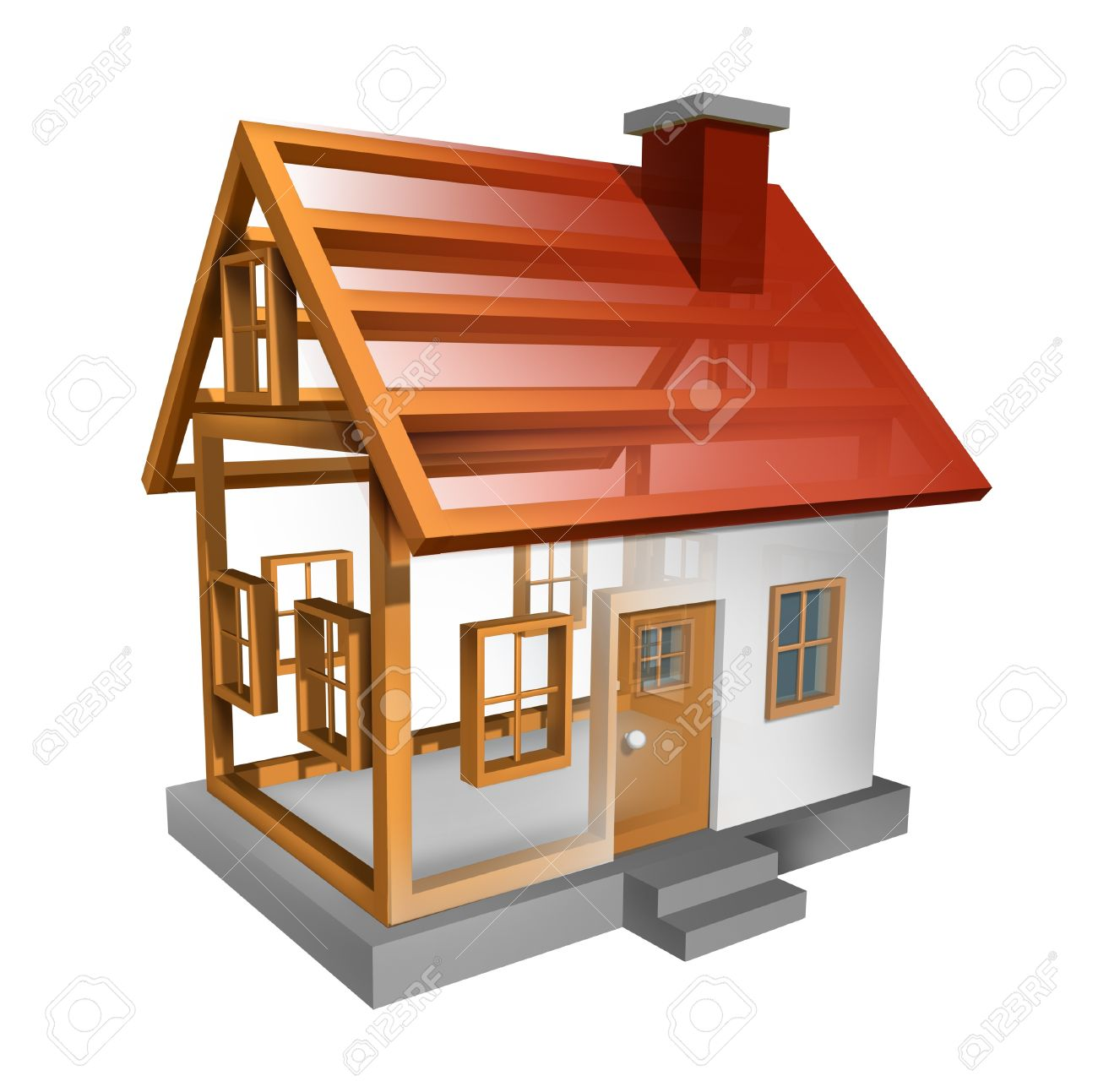 Building A Home And House Construction Stock Photo   12667462