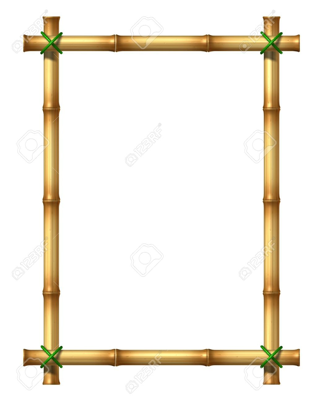Bamboo Sticks Blank Frame Stock Photo, Picture And Royalty Free ...