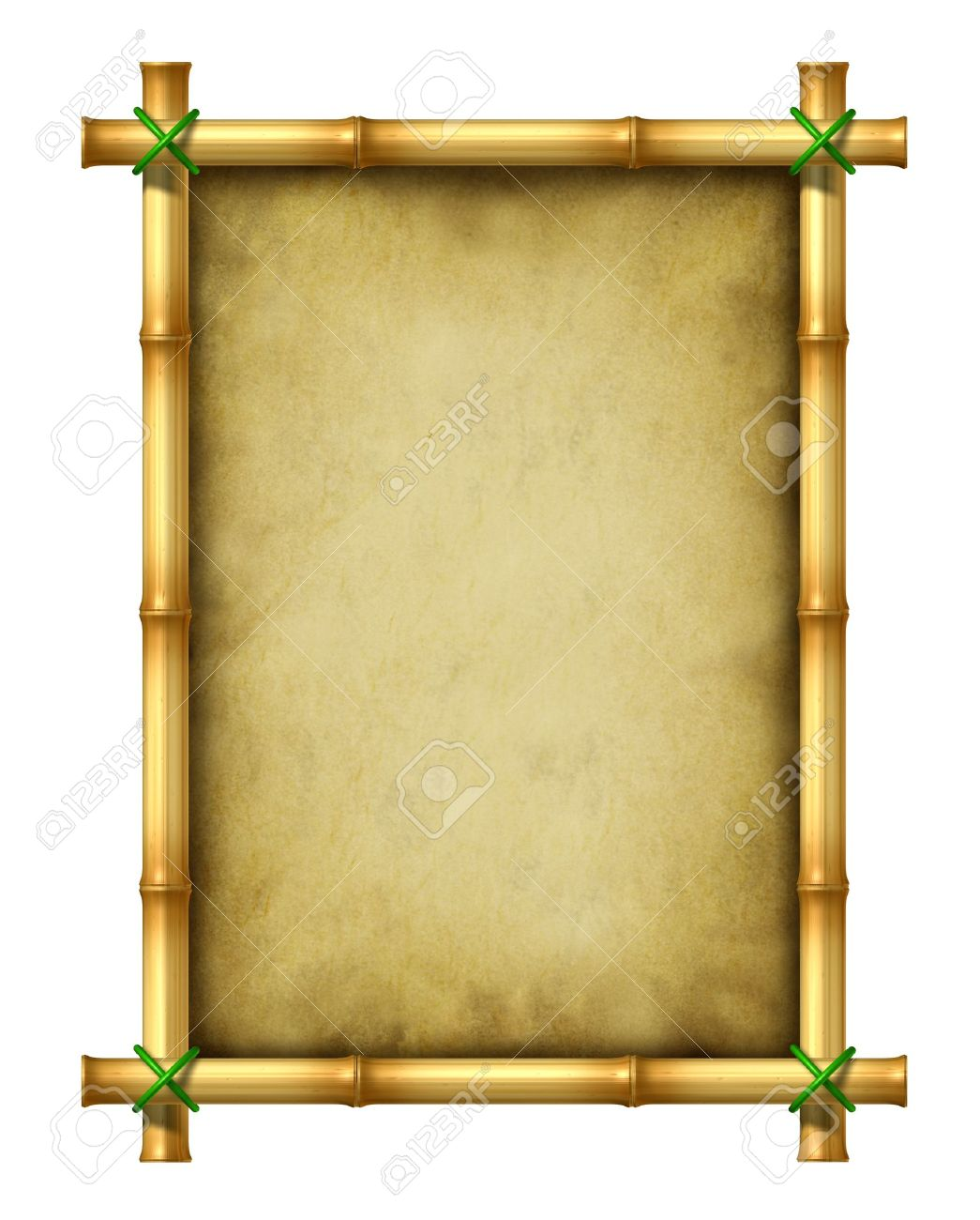 Bamboo Blank Frame Stock Photo, Picture And Royalty Free Image ...
