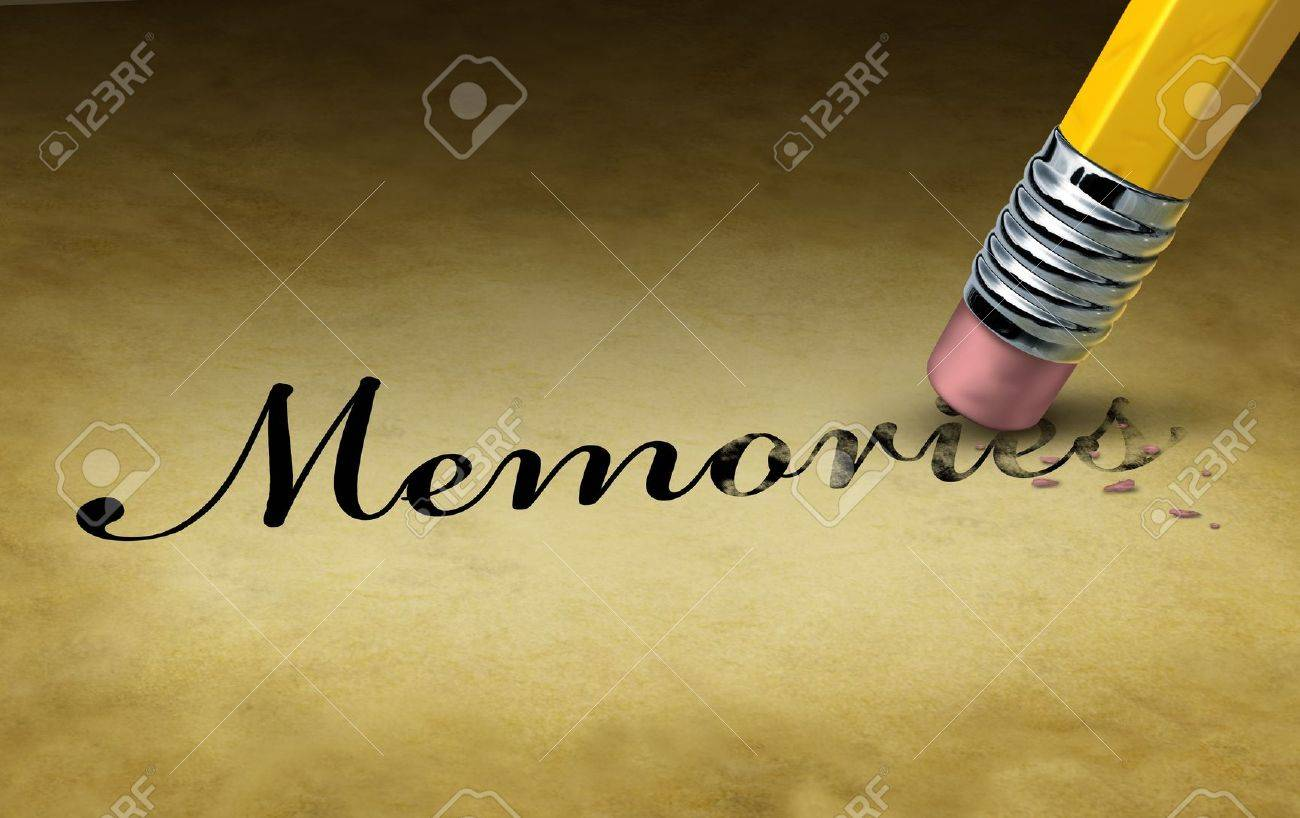 Memory loss concept with a  Memories