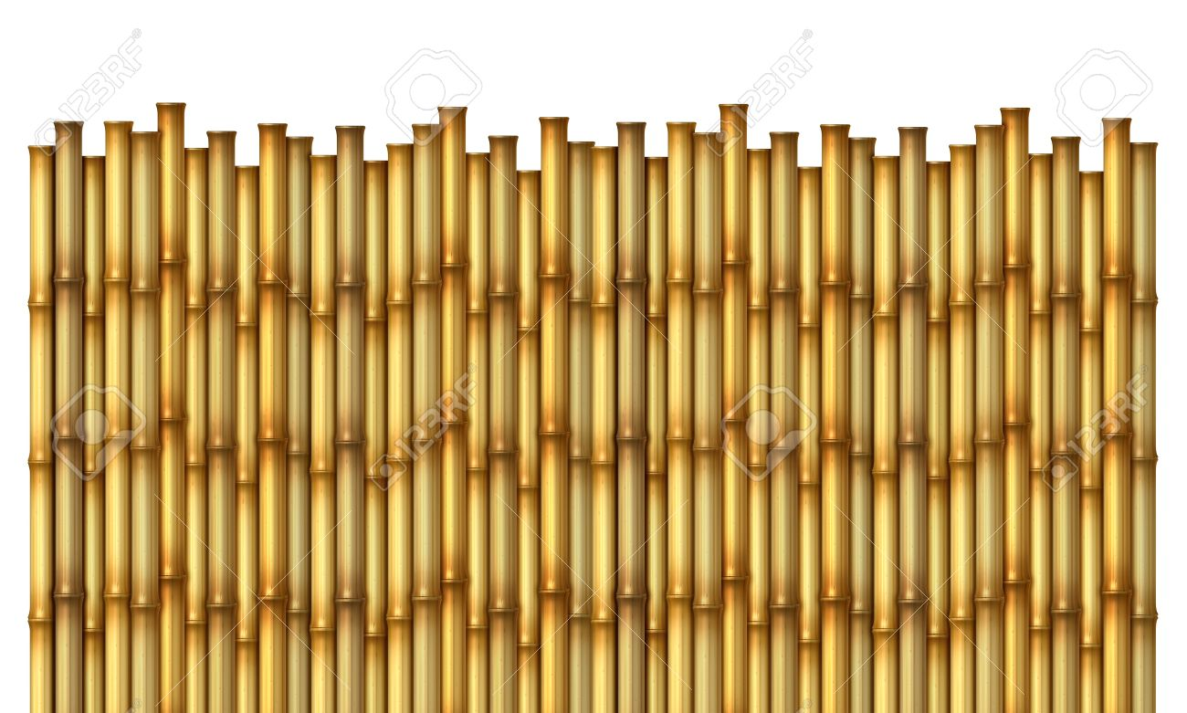 Fantastic Bamboo Fence As An Exotic Decorative Hot Tropical Climate Design  MO79