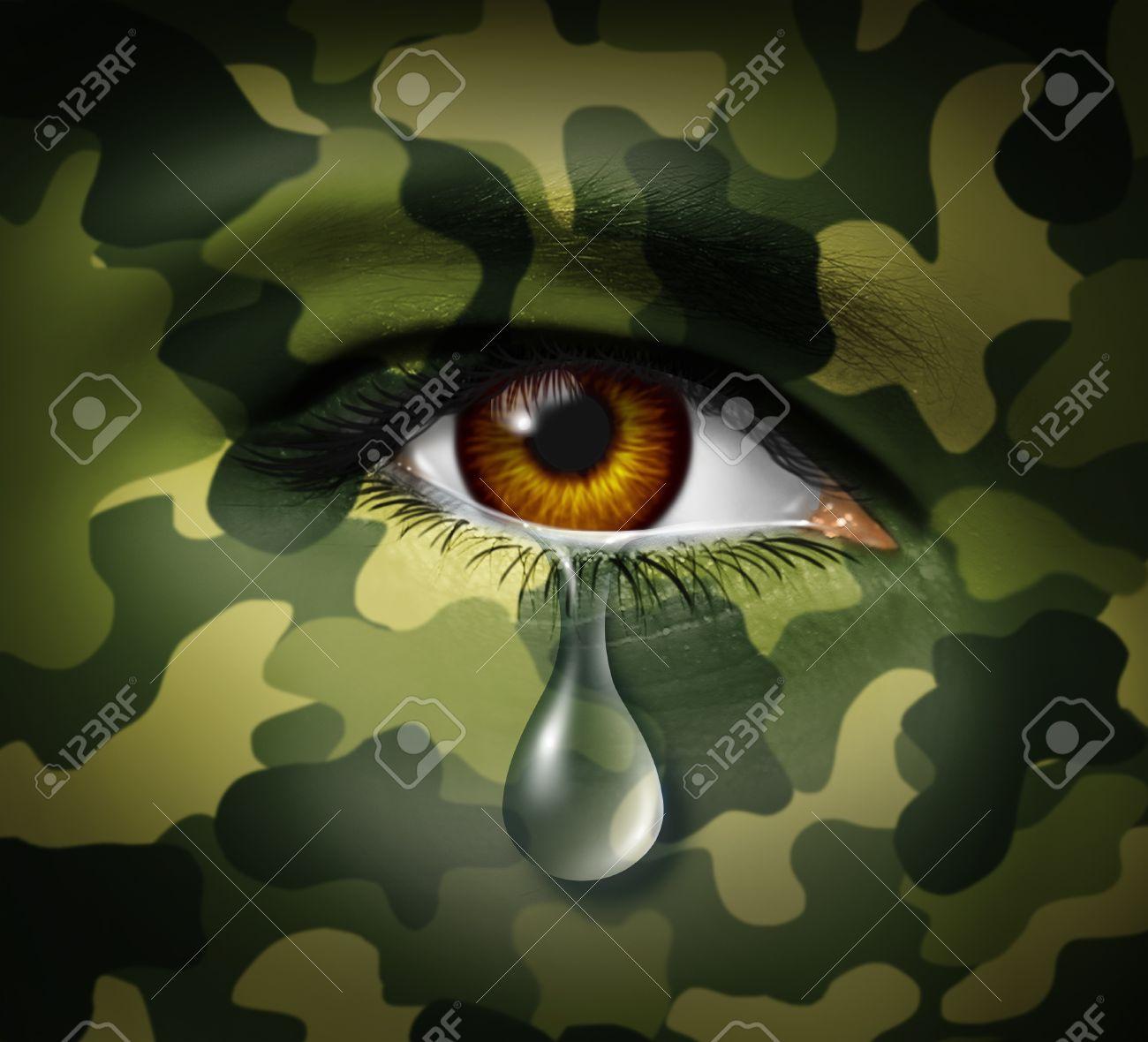 El Estrés Emocional De La Guerra Como Un Soldado Héroe Militar