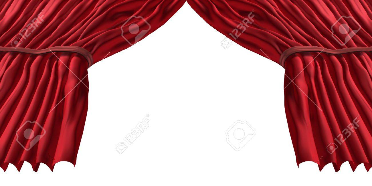 Open theater drapes or stage curtains royalty free stock image image - Red Stage Curtain And Rich Classical Velvet Drapes With An Open Blank Center For Text As