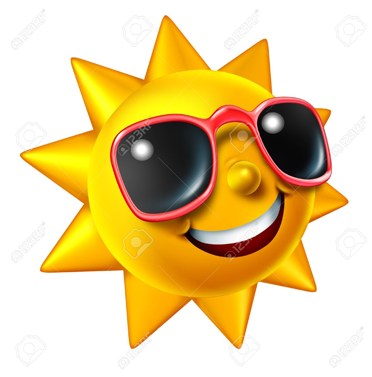 Smiling Summer Sun Character With Sunglasses As A Happy Ball Stock Photo Picture And Royalty Free Image Image 13838358