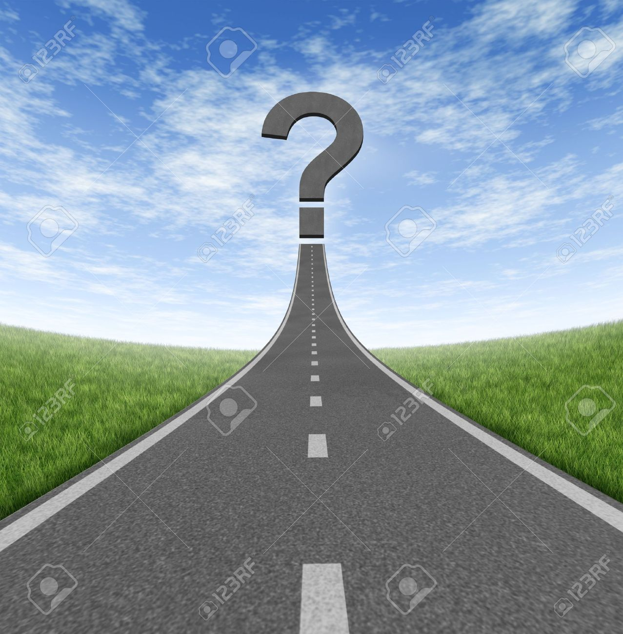 road to change and business career path as a rising highway road to change and business career path as a rising highway a question mark on