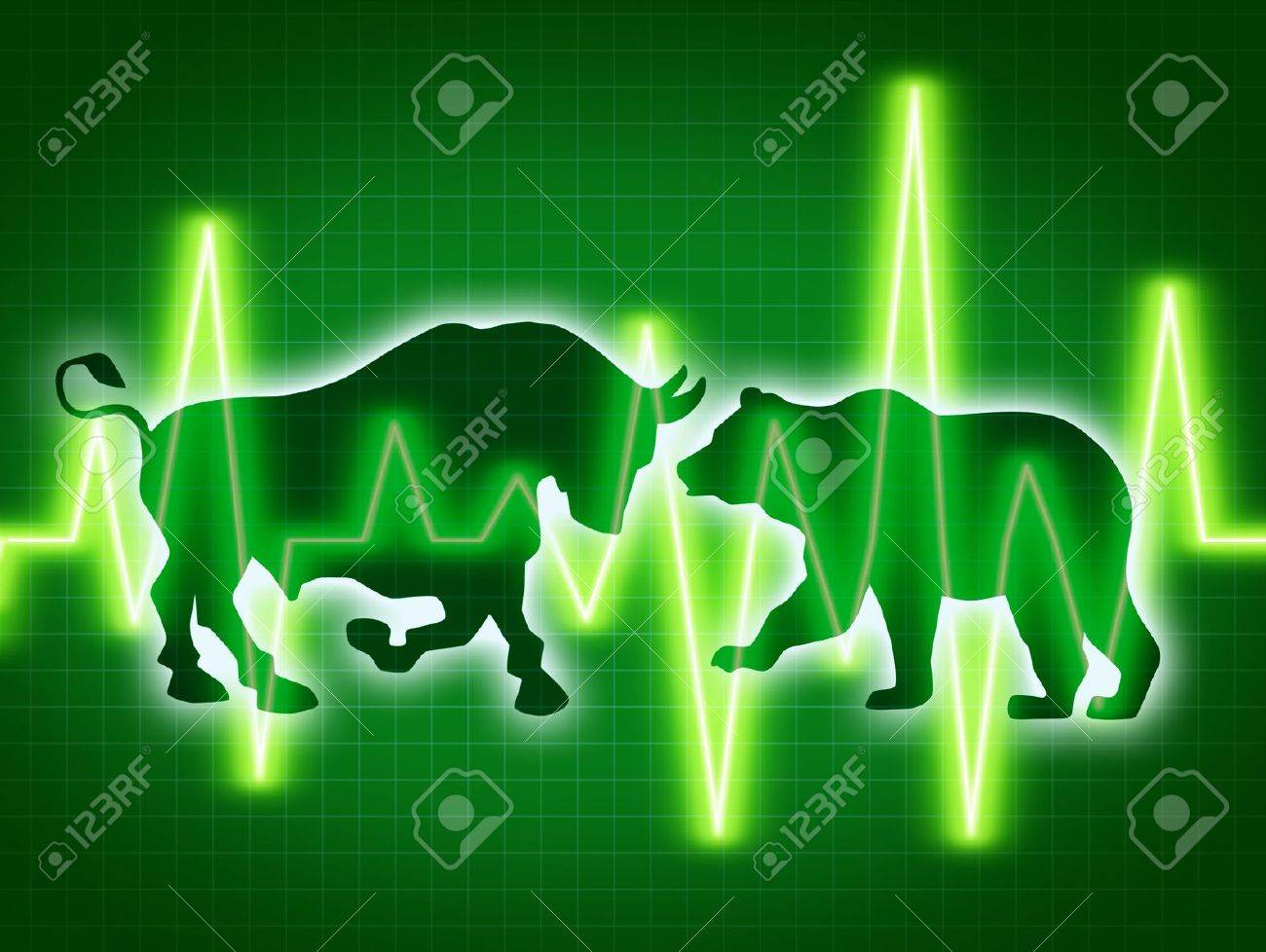Stock market concept of the animal symbols for buy and sell as stock market concept of the animal symbols for buy and sell as a bull and bear buycottarizona