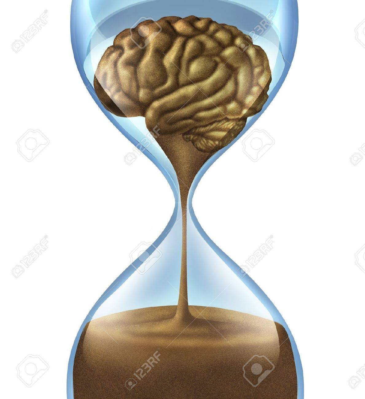Losing your memory problems as a mental illness symbol of Dementia and Alzheimer Stock Photo - 14345347
