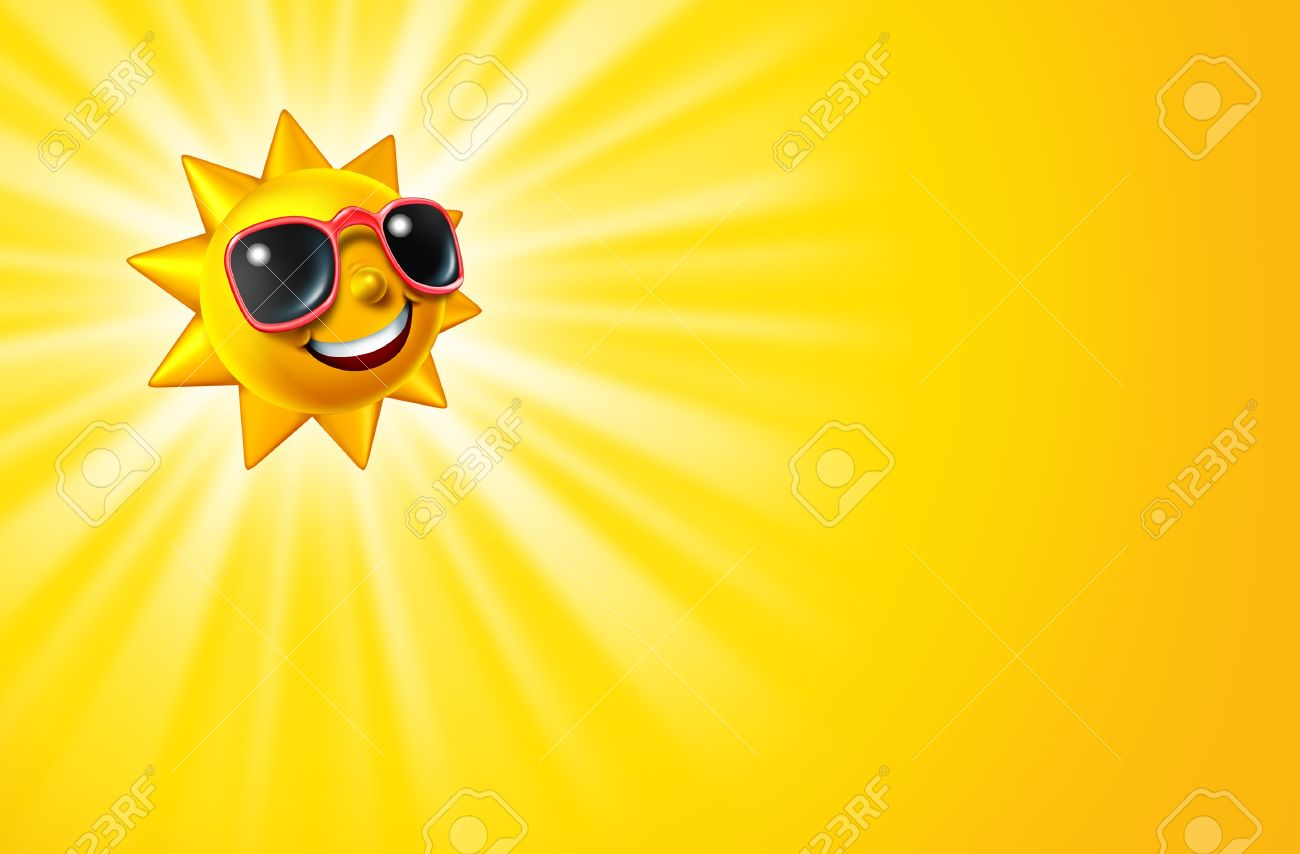 Smiling Hot Sun As A Summer Sunny Character With Sunglasses As Stock Photo Picture And Royalty Free Image Image 14345357