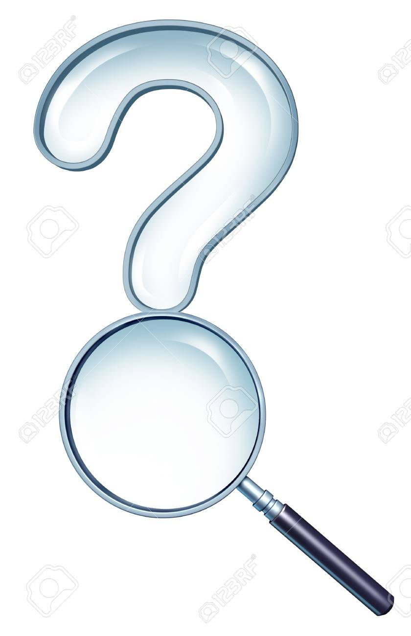 Searching for solutions and planning a strategy by asking questions  with a question mark shaped magnifying glass as a business symbol of taking a closer look with research and market analysis Stock Photo - 15206260