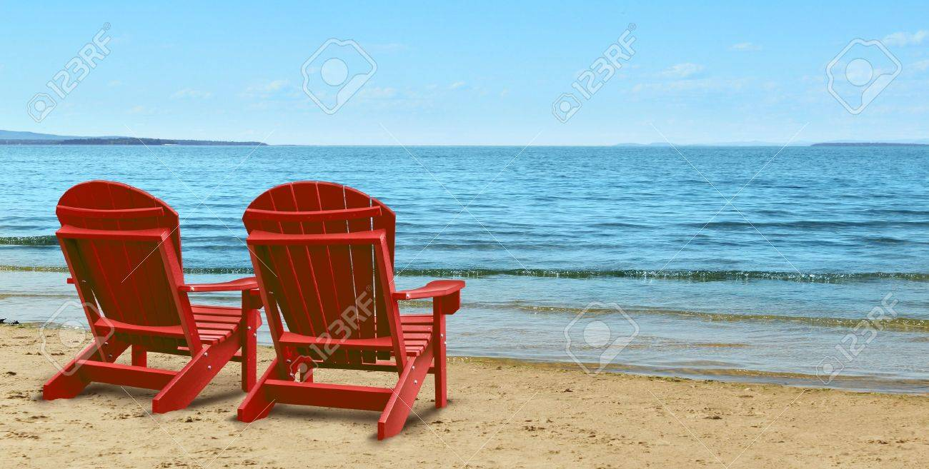 retirement aspirations and financial planning symbol two retirement aspirations and financial planning symbol two empty blue adirondack chairs sitting on a tropical