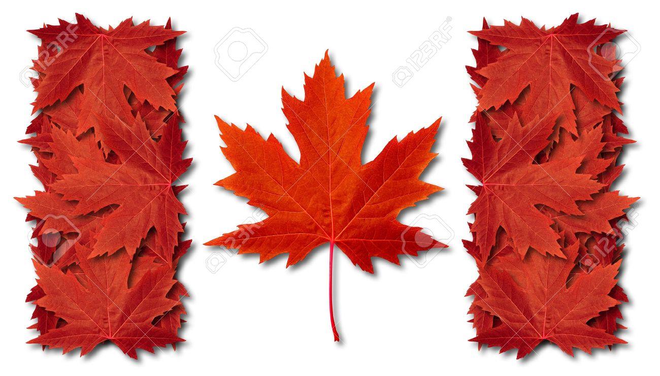 Canada leaf flag made with three dimensional red maple leaves canada leaf flag made with three dimensional red maple leaves as an autumn symbol stock photo biocorpaavc Choice Image