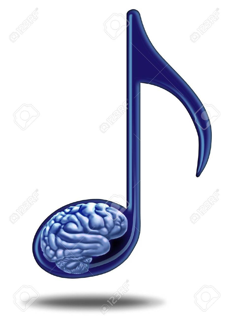 Music education and medical therapy with a musical note containing music education and medical therapy with a musical note containing a human brain as a symbol biocorpaavc Gallery