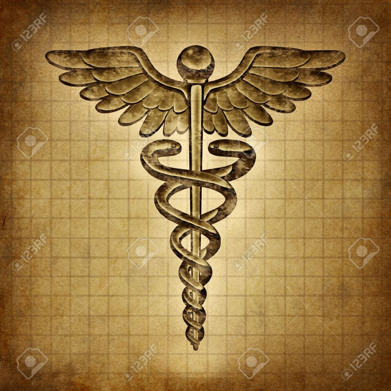 showing post media for vintage health symbol symbolsnet com vintage health symbol caduceus on an old grunge parchment document as a vintage medical symbol