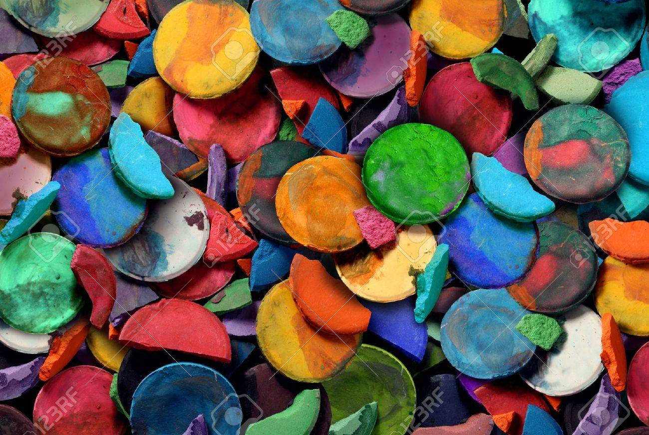 Color and art - Art Paint Concept Background As A Group Of Old Used Water Color Pucks As An Arts