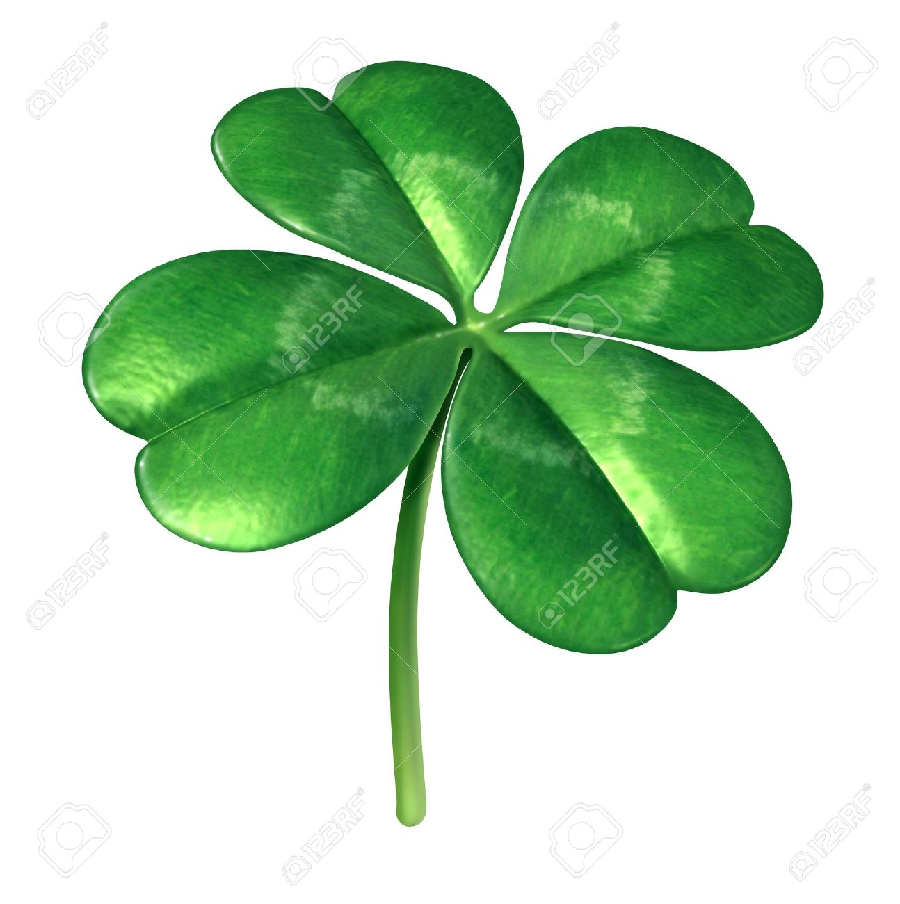 Four leaf clover plant as an irish symbol for a green lucky charm four leaf clover plant as an irish symbol for a green lucky charm icon of good biocorpaavc Image collections